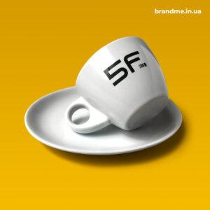 Елегантні чашки з блюдцем для архітектурно-проектної компанії 5F studio