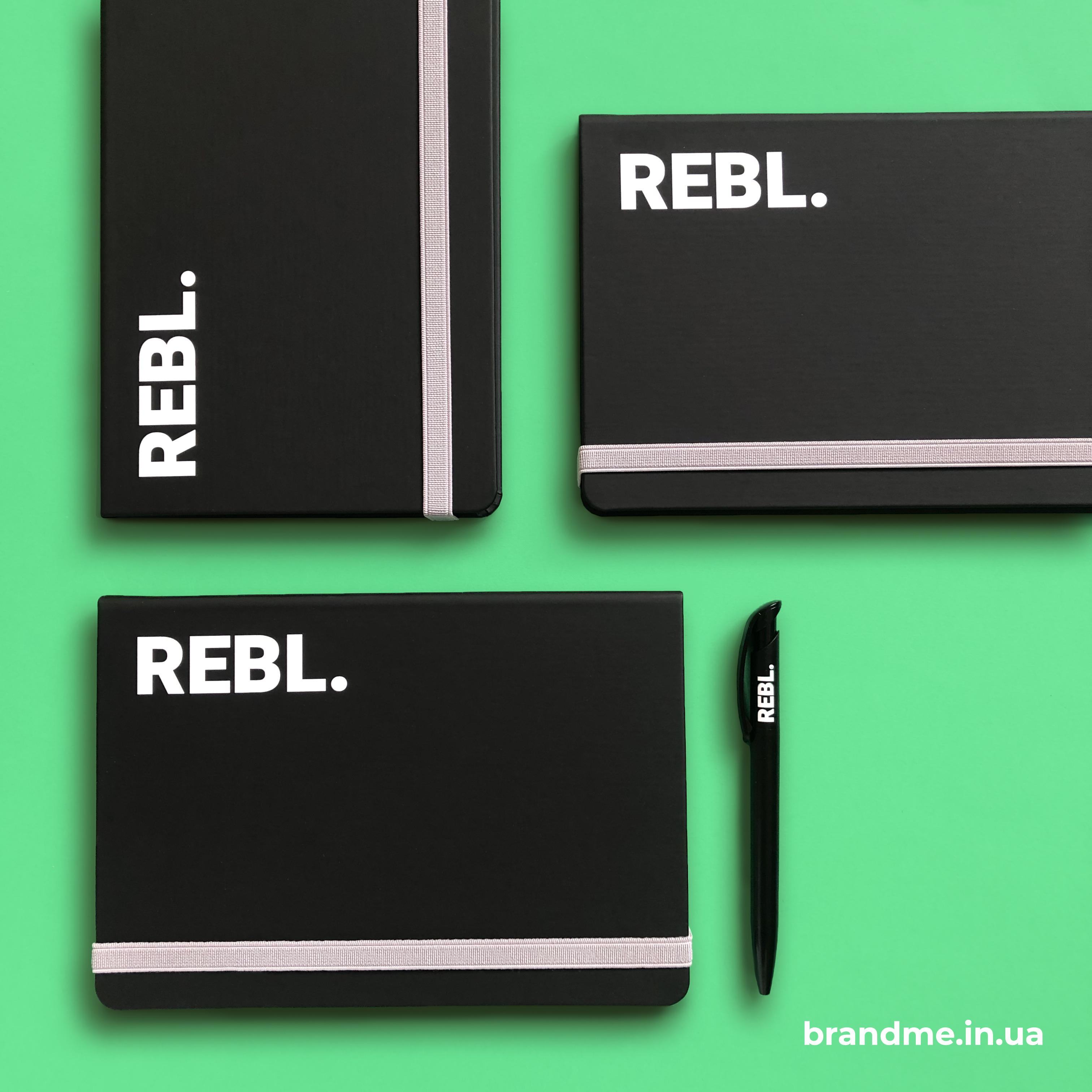 УФ-друк на блокнотах для REBL.