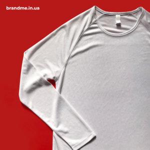 Спортивна футболка на довгий рукав під нанесення логотипу