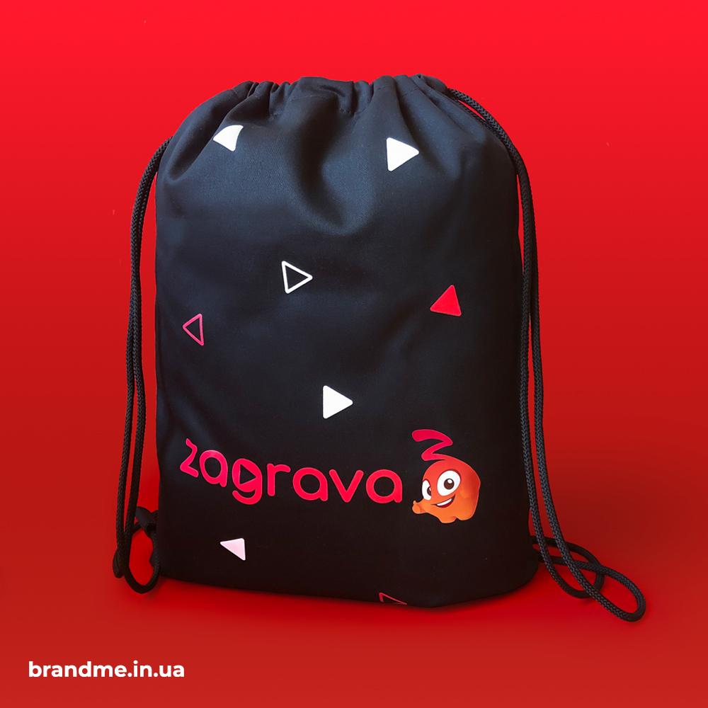 Сумка-рюкзак з принтом для