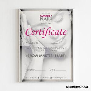 Печать и дизайн сертификата для