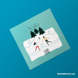 Ультрафиолетовая печать на поздравительных открытках
