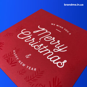 Новогодние открытки с УФ-печатью и нанесением лака