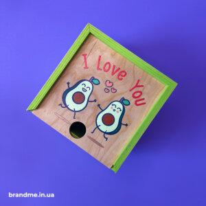 Подарочная деревянная упаковка с УФ-печатью для чашки