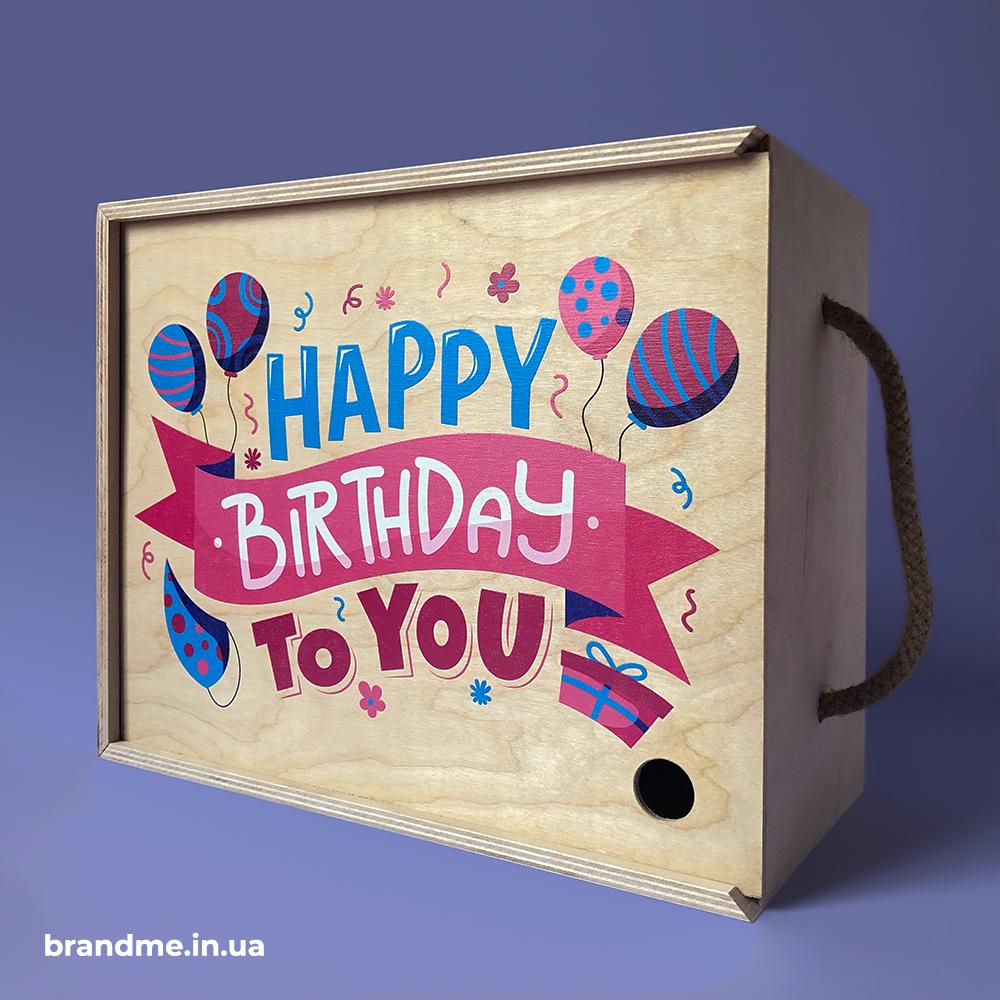 Подарункові коробки з фанери з різнокольоровим друком