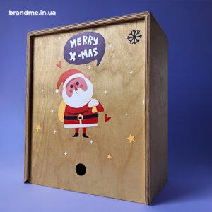 Подарочная коробка из фанеры с яркой ультрафиолетовой печатью
