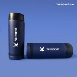 УФ-нанесення логотипу на термочашки для компаніїї