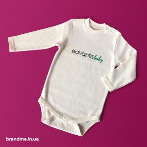 Боди для новорожденных с нанесением логотипа для компании