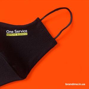 Изготовление защитных масок с логотипом для компании