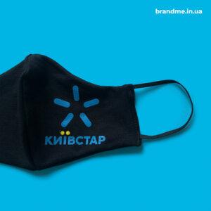 Защитные маски с печатью логотипа для