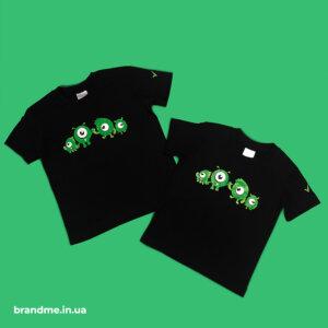 Дизайн и печать принта на детских футболках для IT-компании