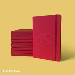 """Блокноти з тисненням логотипа для профіцентру BOSCH від ТМ """"КВІТКА"""""""