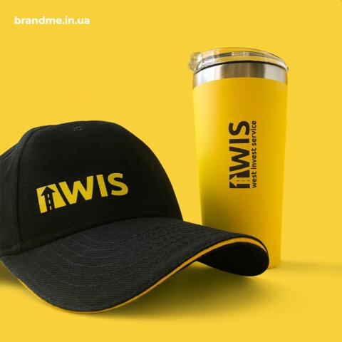 Термочашки и брендированные кепки для компании West Invest Service