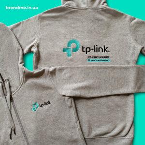 Худи с вышивкой логотипа для компании TP-Link Ukraine