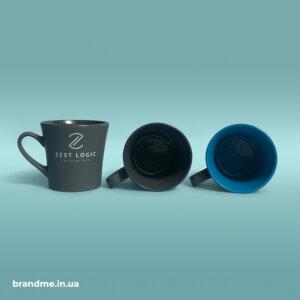 Брендовані оригінальні чашки з кольоровою серединою для IT-компанії Zest Logic