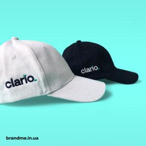 Вишивка на бейсболках для компанії Clario