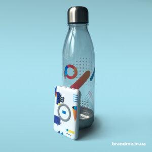 Круговий ультрафіолетовий друк на пляшках для компанії SoftServe